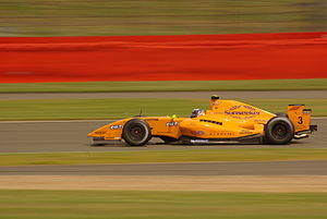 Greg Mansell - Mansell driving for Ultimate Motorsport at the Silverstone round of the 2009 Formula Renault 3.5 Series season.