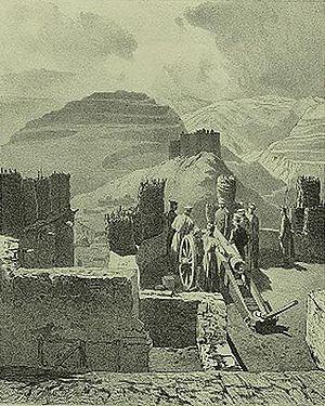 Kumukh - Image: Grigory Gagarin. Daghestan meridional. Fort de Kazy Koumoukh B