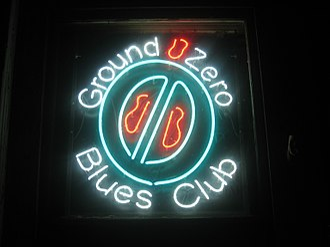 Ground Zero (blues club) - Ground Zero Neon Sign/Logo