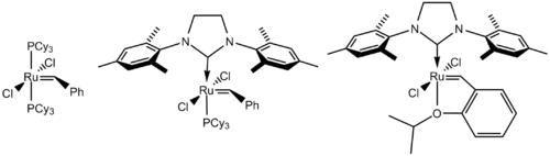 Common Grubbs catalysts