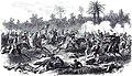 Guerre du Paraguay. - Combat et Peru-Huê, près de Rio-Hondo (3 août 1867). Charge de cavalerie brésiliene du général Andrade Neves.jpg