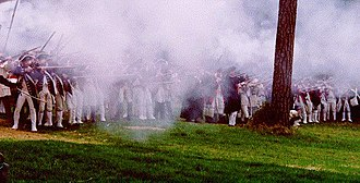 Battle of Guilford Court House - Smoke fills the air at an annual re-enactment