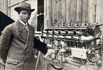 Gustav Otto - Otto with an Argus aeroengine