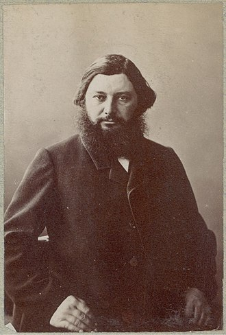 Gustave Courbet - Gustave Courbet c. 1860s  (portrait photograph by Nadar)