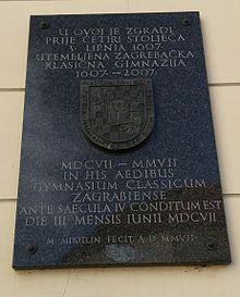 Klasična gimnazija u Zagrebu – Wikipedija