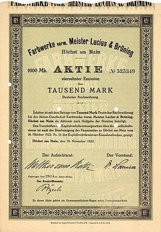 Hoechst AG - Image: Höchst Farbwerke 1922