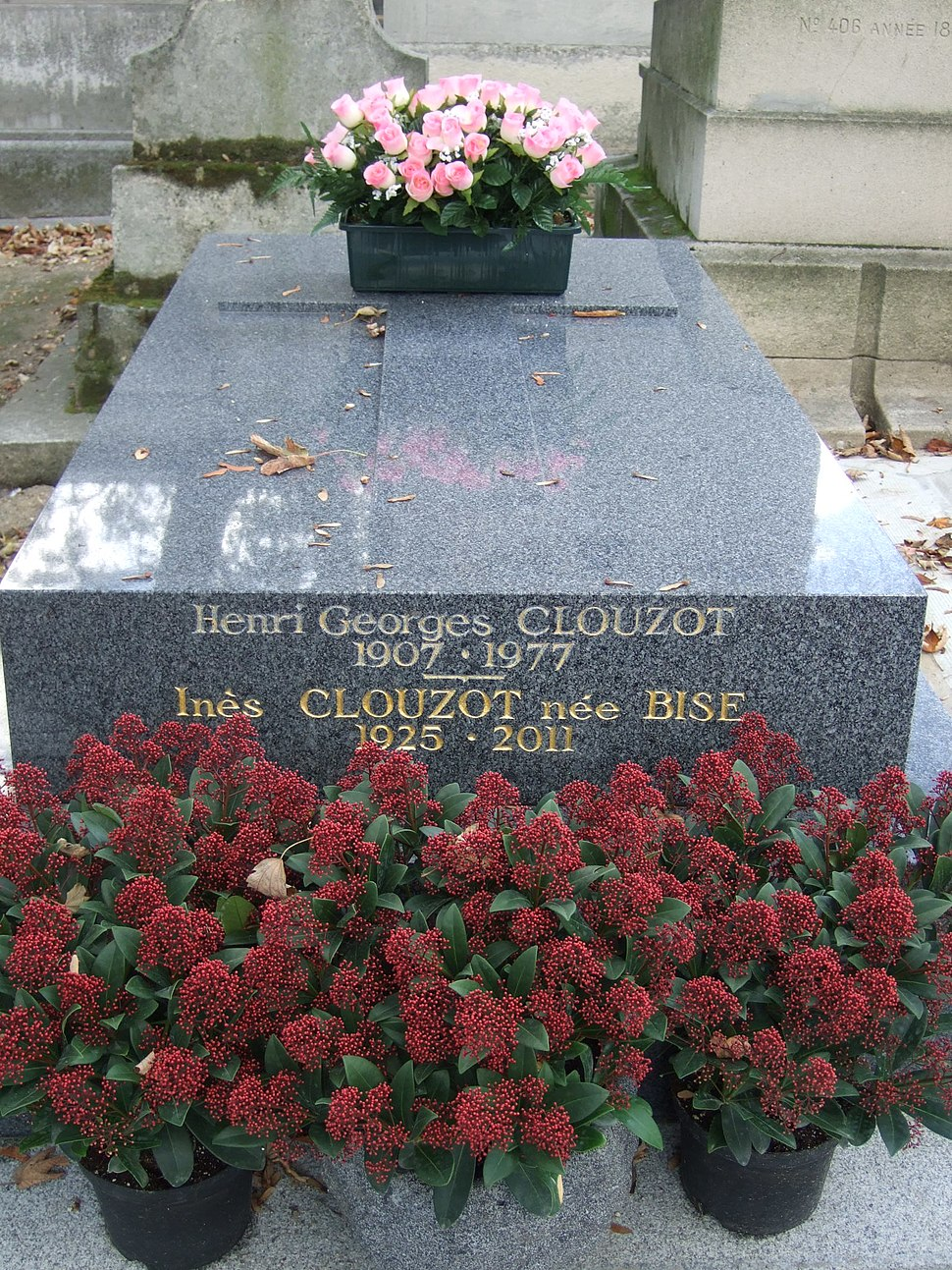 H.G. et In%C3%A8s CLOUZOT, tombe
