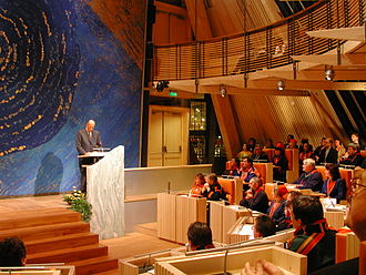 Sámi Parliament of Norway - Harald V opening the new building in 2000