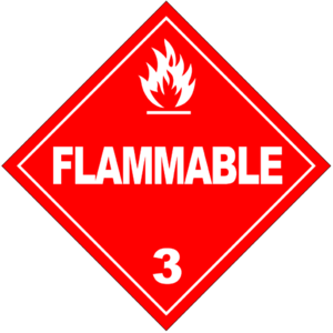 Glossary of the American trucking industry - A hazardous materials placard