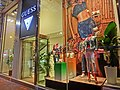 HK CWB night Kingston Street clothing shop wondow Guess Mar-2013.JPG
