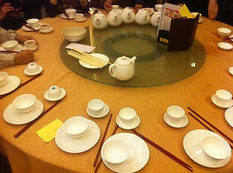 Customs and etiquette in Chinese dining - Place settings before a meal is served