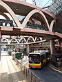 HK Tram tour view Causeway Bay 怡和街 Yee Wo Street round ring footbridge August 2018 SSG 01.jpg