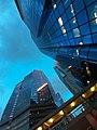 HK WC 灣仔 Wan Chai 港灣道 Harbour Road 瑞安中心 Shui On Centre sky view blue 灣仔政府大樓 Wan Chai Government Tower June 2020 SS2 01.jpg