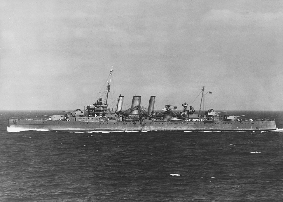 HMAS Australia (D84) at sea on 31 August 1942