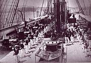 HMS Wolverine (1863) cutlass drill