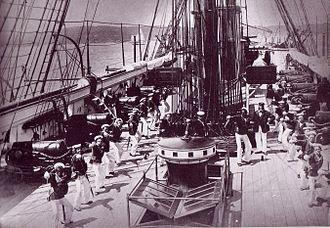 Cutlass - Image: HMS Wolverine (1863) cutlass drill