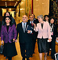 HRH PrinceHassan (Jordan), Irina Bokova (UNESCO), Zafra M. Lerman at the Malta Conference V (Paris).jpg