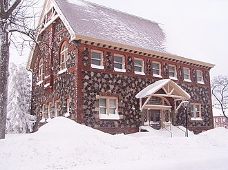 Calumet and Hecla Mining Company - The company library and bathhouse for its employees.