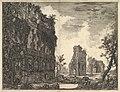 Hadrian's Villa- The Piazza d'Oro (Piazza of Gold) (Veduta degli Avanzi della Circonferenza delle antiche Fabbriche di una delle Piazze della Villa Adriana oggidi chiamata Piazza d'oro) MET DP828304.jpg