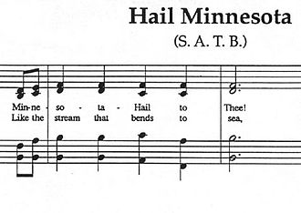 "Hail! Minnesota - The beginning of ""Hail! Minnesota""'s sheet music"