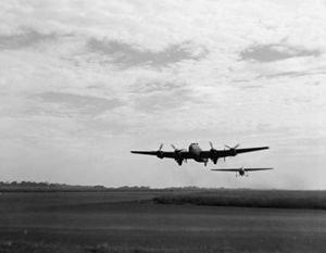 Halifax and Horsa take off from Cornwall for North Africa 1943.jpg