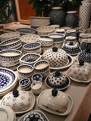 Bolesławiec pottery - Selection of handcrafted products