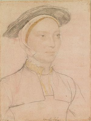 Maud Green - Image: Hans Holbein the Younger An unidentified woman RL 12256