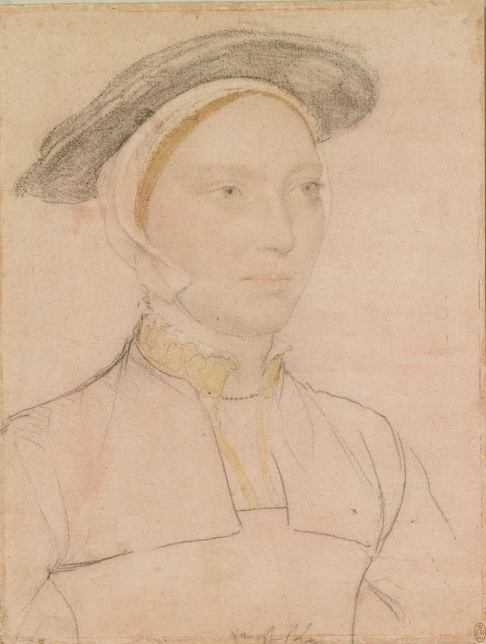 Hans Holbein the Younger - An unidentified woman RL 12256