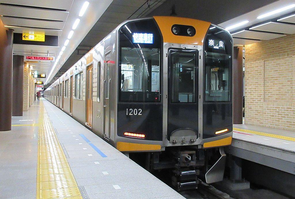Hanshin 1202F at Kobe-Sannomiya Station