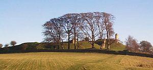 Harbottle Castle - Image: Harbottlecastleview