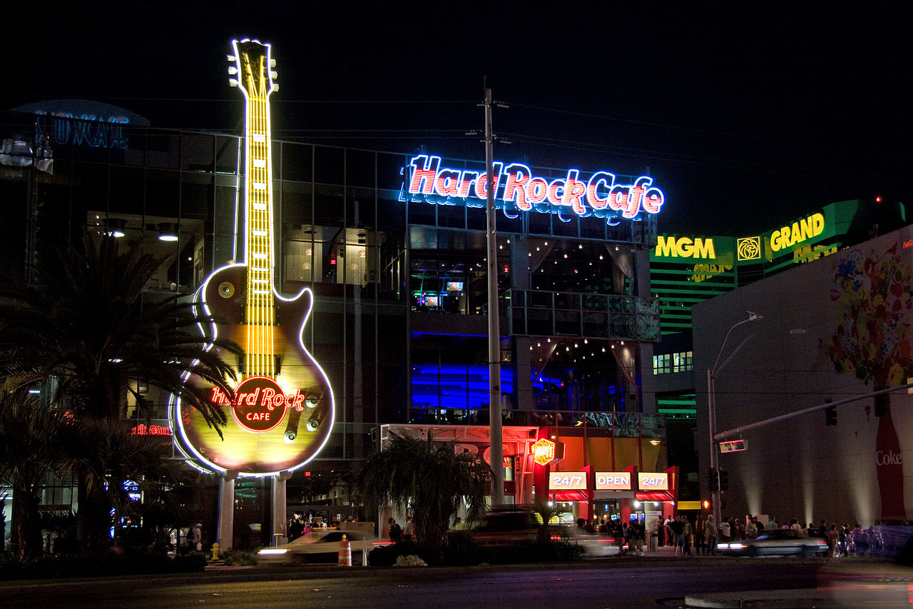 Hard Rock Cafe Wanduhr