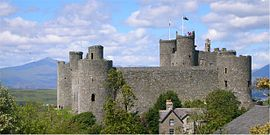 Harlech Castle with Snowdon.jpg