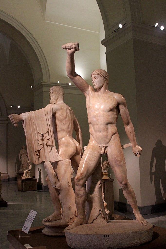 """""""Тираноборцы"""" (Гармодий и Аристогитон). Скульпторы Критий и Несиот 477—476 годы до н. э. (римская копия II века)"""