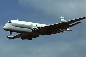 Hawker Siddeley Nimrod - Nimrod MR1 XV262 landing at RAF St Mawgan in July 1981