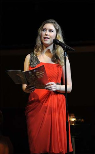 Hayley Westenra - Westenra in 2010 Christmas Wishes concert tour (UK)