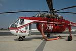 Helitanker N792HT Sikorsky S-64 firefighting on the San Bernardino National Forest Air Tanker Base - Oct. 2009.jpg