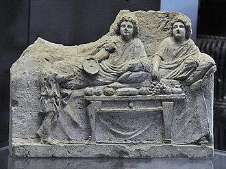 Banquet - Hellenistic banquet scene