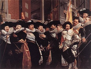 <i>The Officers of the St Adrian Militia Company in 1630</i> Schutterstuk by Hendrik Gerritsz Pot