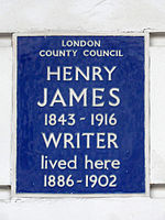 Henry James 1843 - 1916 writer lived here 1886 - 1902.jpg