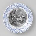 Herdenkingsbord uit 1870 nav Verdrag van Villafranca (1859), Petrus Regout & Co.jpg