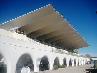 Hipódromo de la Zarzuela - La Zarzuela race course with its distinctive roof