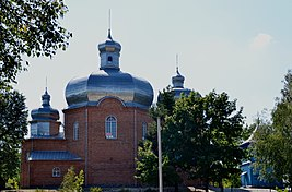Hirnyky Ratnivskyi Volynska-complex of the church of Saint Demetrius-north view.jpg