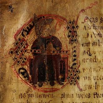 History of the Kings (Peniarth 23C) - Image: History of the Kings (f.1) Aeneas (Eneas)