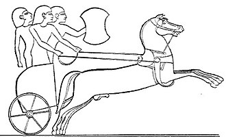 Chariot - Hittite chariot (drawing of an Egyptian relief)
