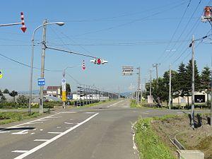 Shinshinotsu, Hokkaido - Street in Shinshinotsu