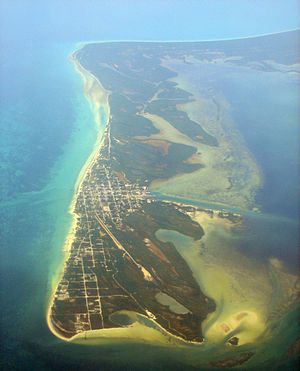 Isla Holbox - Aerial view of Holbox