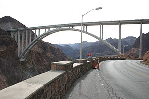 Interstate 11 - A completed alignment of future I-11 (arch bridge) near Hoover Dam