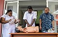 Hospital Corpsman 2nd Class Rudolf Delarea teaches CPR. (40018439460).jpg