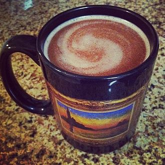 Hot buttered rum - A close-up view of hot buttered rum