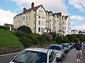 Hotels between the railway and the prom at Criccieth - geograph.org.uk - 1480903.jpg